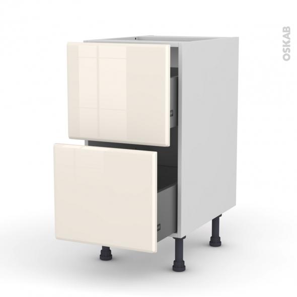 IRIS Ivoire - Meuble casserolier  - 2 tiroirs - L40xH70xP58