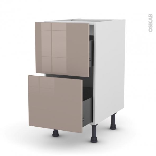 KERIA Moka - Meuble casserolier  - 2 tiroirs - L40xH70xP58