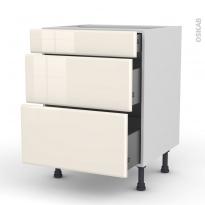 IRIS Ivoire - Meuble casserolier  - 3 tiroirs - L60xH70xP58