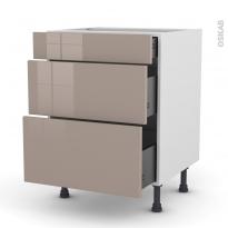 KERIA Moka - Meuble casserolier  - 3 tiroirs - L60xH70xP58