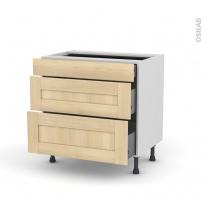 BETULA Bouleau - Meuble casserolier - 3 tiroirs - L80xH70xP58