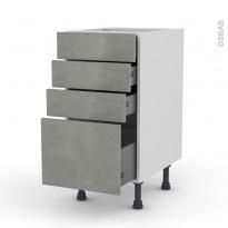 FAKTO Béton - Meuble casserolier  - 4 tiroirs - L40xH70xP58