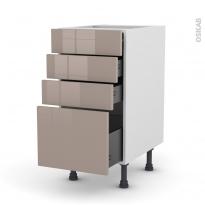KERIA Moka - Meuble casserolier  - 4 tiroirs - L40xH70xP58