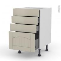 SILEN Argile - Meuble casserolier  - 4 tiroirs - L50xH70xP58