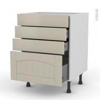 SILEN Argile - Meuble casserolier  - 4 tiroirs - L60xH70xP58