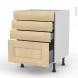 BETULA Bouleau - Meuble casserolier  - 4 tiroirs - L60xH70xP58