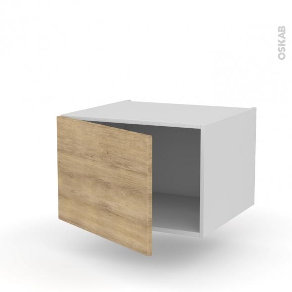 Meuble de cuisine - Haut ouvrant - HOSTA Chêne naturel - 1 porte - L60 x H41 x P58 cm