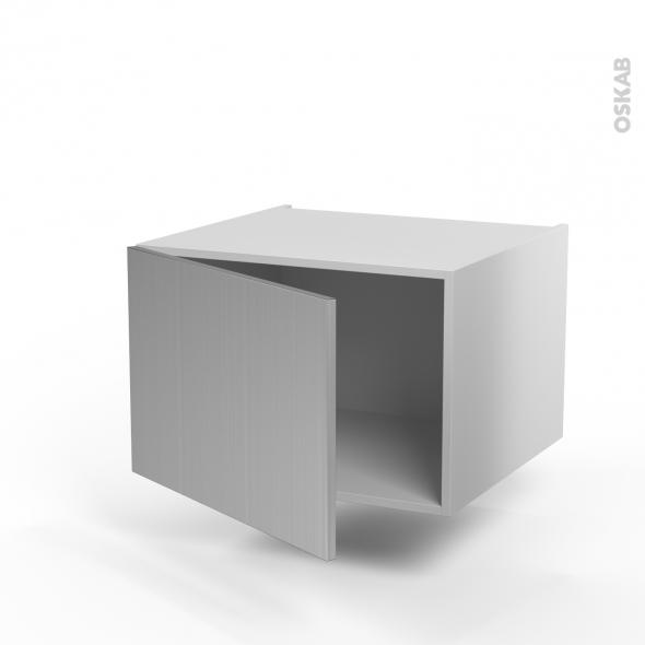 STILO Inox - Meuble haut ouvrant H41  - 1 porte  - L60xH41xP58