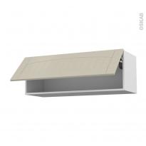SILEN Argile - Meuble haut abattant H35  - 1 porte - L100xH35xP37