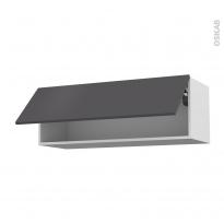 Meuble de cuisine - Haut abattant - GINKO Gris - 1 porte - L100 x H35 x P37 cm