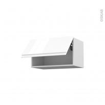 IPOMA Blanc - Meuble haut abattant H35  - 1 porte - L60xH35xP37
