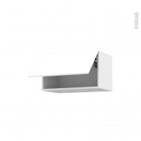 IRIS Blanc - Meuble haut abattant H35  - 1 porte - L60xH35xP37