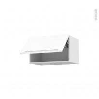 PIMA Blanc - Meuble haut abattant H35  - 1 porte - L60xH35xP37