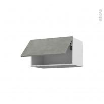 Meuble de cuisine - Haut abattant - FAKTO Béton - 1 porte - L60 x H35 x P37 cm