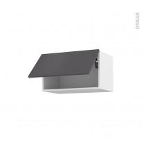 Meuble de cuisine - Haut abattant - GINKO Gris - 1 porte - L60 x H35 x P37 cm