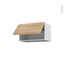 Meuble de cuisine - Haut abattant - IPOMA Chêne naturel - 1 porte - L60 x H35 x P37 cm