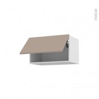 Meuble de cuisine - Haut abattant - GINKO Taupe - 1 porte - L60 x H35 x P37 cm
