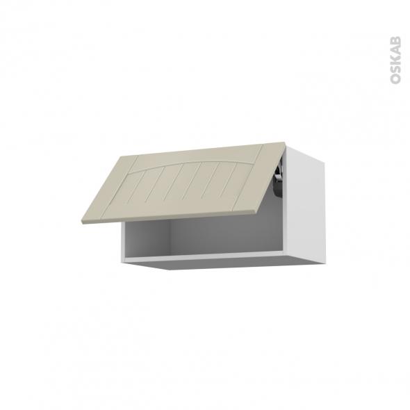 SILEN Argile - Meuble haut abattant H35  - 1 porte - L60xH35xP37