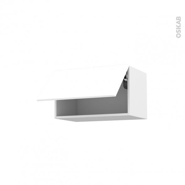 Meuble de cuisine - Haut abattant - IRIS Blanc - 1 porte - L60 x H35 x P37 cm