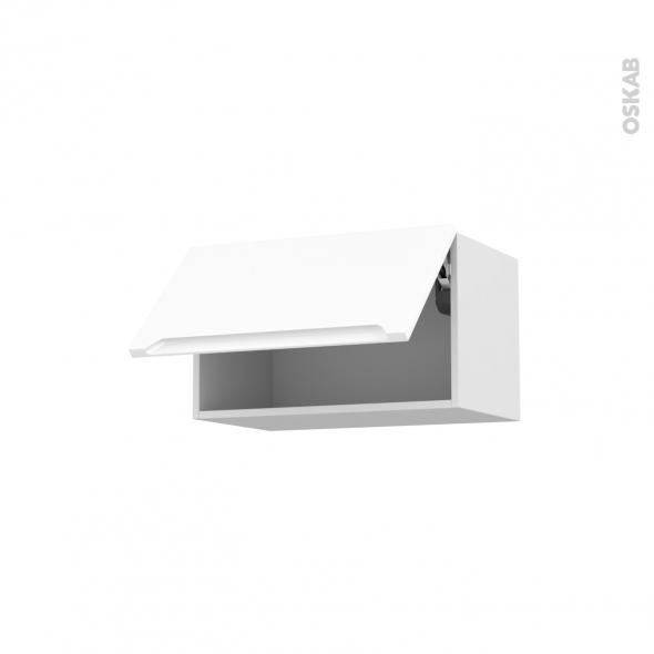 Meuble de cuisine - Haut abattant - PIMA Blanc - 1 porte - L60 x H35 x P37 cm