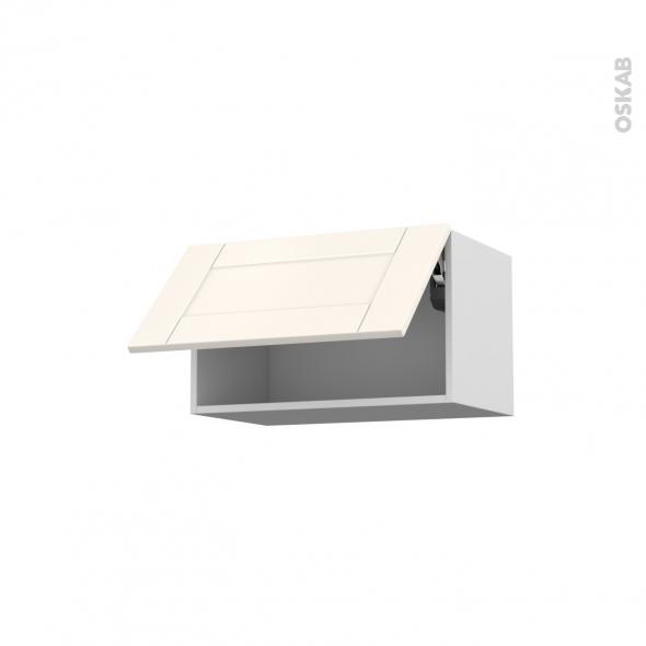 Meuble de cuisine - Haut abattant - FILIPEN Ivoire - 1 porte - L60 x H35 x P37 cm