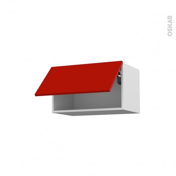 GINKO Rouge - Meuble haut abattant H35  - 1 porte - L60xH35xP37