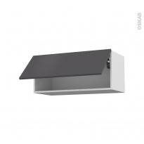 Meuble de cuisine - Haut abattant - GINKO Gris - 1 porte - L80 x H35 x P37 cm