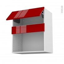 Meuble de cuisine - Haut MO encastrable niche 38 - STECIA Rouge - 1 abattant - L60 x H70 x P37 cm