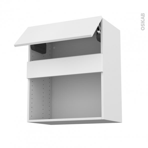 Meuble de cuisine - Haut MO encastrable niche 38 - GINKO Blanc - 1 abattant - L60 x H70 x P37 cm