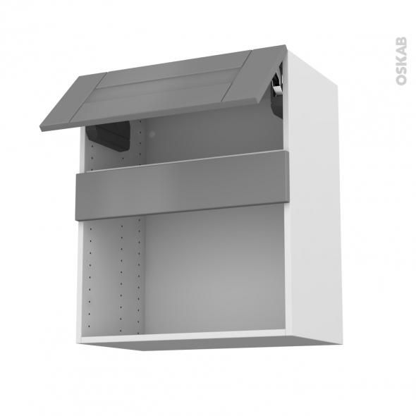 Meuble de cuisine Haut MO encastrable niche 38 FILIPEN Gris, 1 abattant,  L60 x H70 x P37 cm