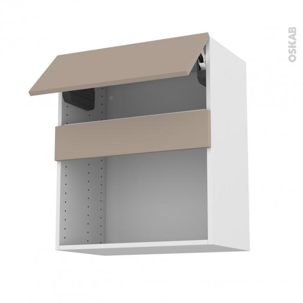 Meuble de cuisine - Haut MO encastrable niche 38 - GINKO Taupe - 1 abattant - L60 x H70 x P37 cm