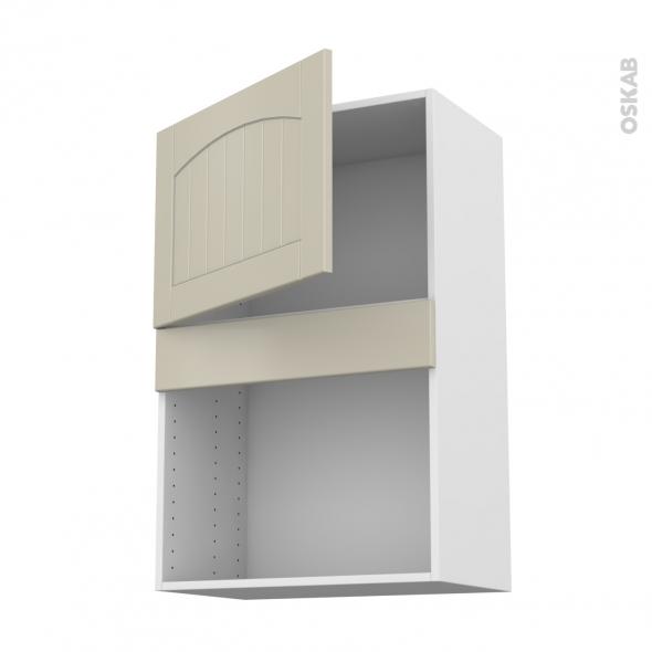SILEN Argile - Meuble haut MO niche 36/38 - 1 porte - L60xH92xP37 - droite