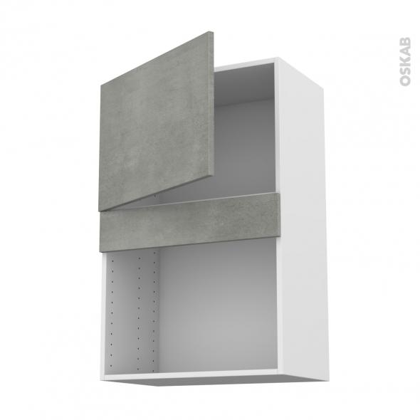 Meuble de cuisine - Haut MO encastrable niche 38 - FAKTO Béton - 1 porte - L60 x H92 x P37 cm