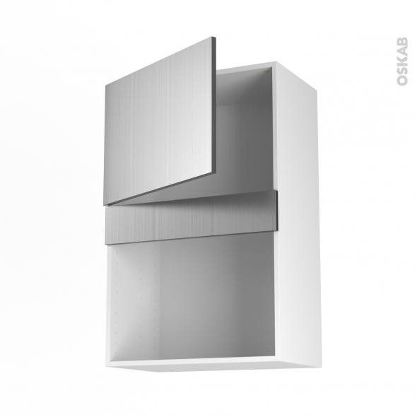 STILO Inox - Meuble haut MO niche 38 - 1 porte - L60xH92xP37