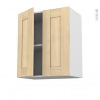 BETULA Bouleau - Meuble haut ouvrant H70 - 2 portes - L60xH70xP37