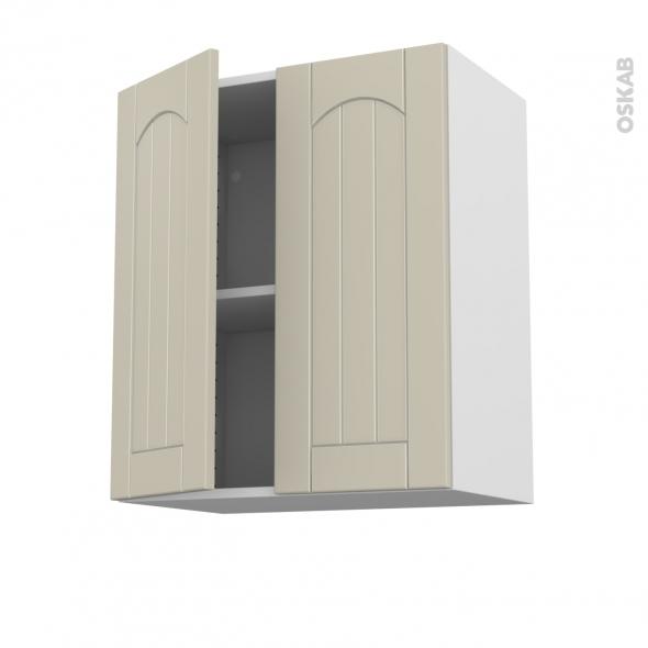 SILEN Argile - Meuble haut ouvrant H70 - 2 portes - L60xH70xP37