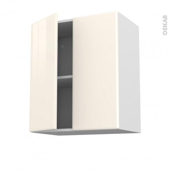 IRIS Ivoire - Meuble haut ouvrant H70 - 2 portes - L60xH70xP37