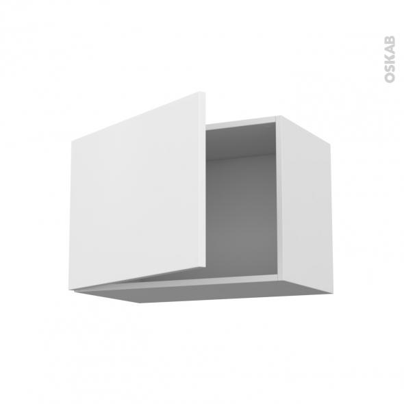 Meuble de cuisine - Haut ouvrant - GINKO Blanc - 1 porte - L60 x H41 x P37 cm