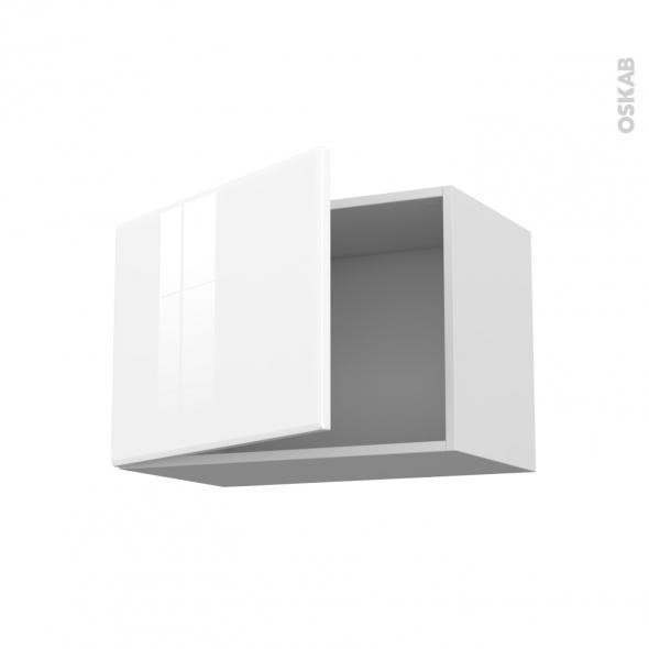 IRIS Blanc - Meuble haut ouvrant H41  - 1 porte - L60xH41xP37