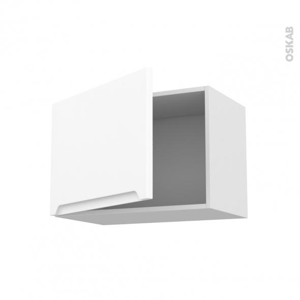 Meuble de cuisine - Haut ouvrant - PIMA Blanc - 1 porte - L60 x H41 x P37 cm