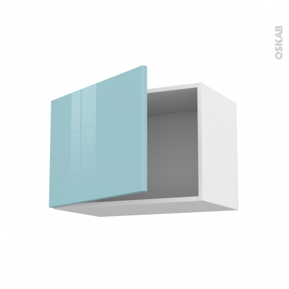 KERIA Bleu - Meuble haut ouvrant H41  - 1 porte - L60xH41xP37