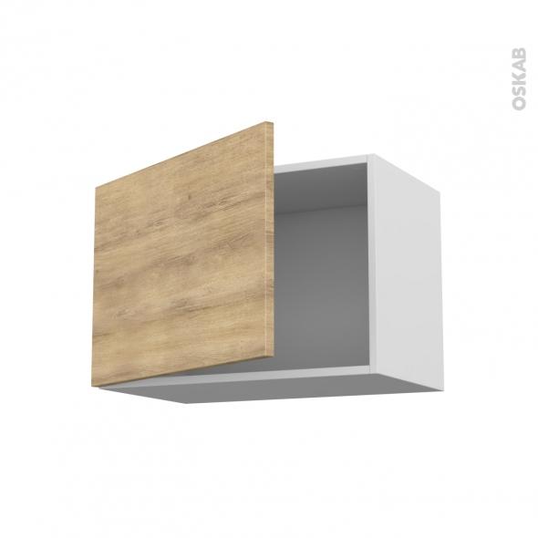 Meuble de cuisine - Haut ouvrant - HOSTA Chêne naturel - 1 porte - L60 x H41 x P37 cm