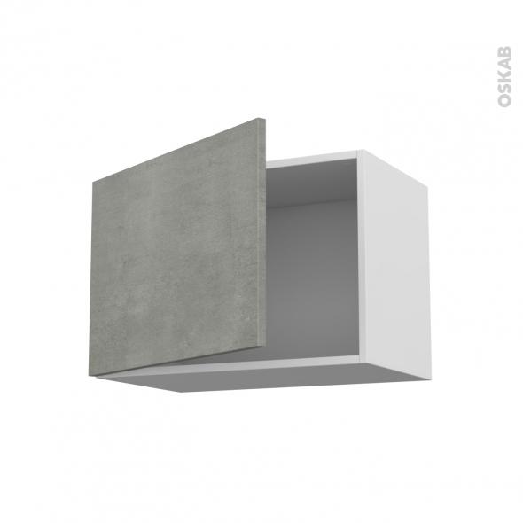 Meuble de cuisine - Haut ouvrant - FAKTO Béton - 1 porte - L60 x H41 x P37 cm