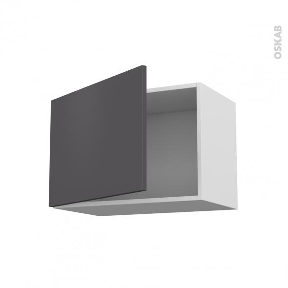 Meuble de cuisine - Haut ouvrant - GINKO Gris - 1 porte - L60 x H41 x P37 cm