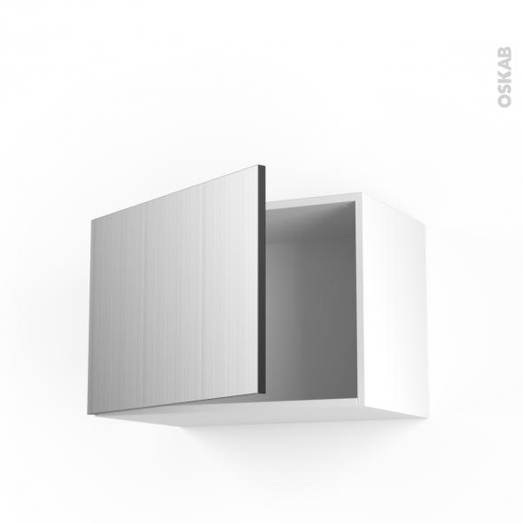 STILO Inox - Meuble haut ouvrant H41  - 1 porte - L60xH41xP37
