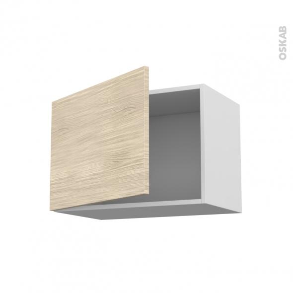 Meuble de cuisine - Haut ouvrant - STILO Noyer Blanchi - 1 porte - L60 x H41 x P37 cm