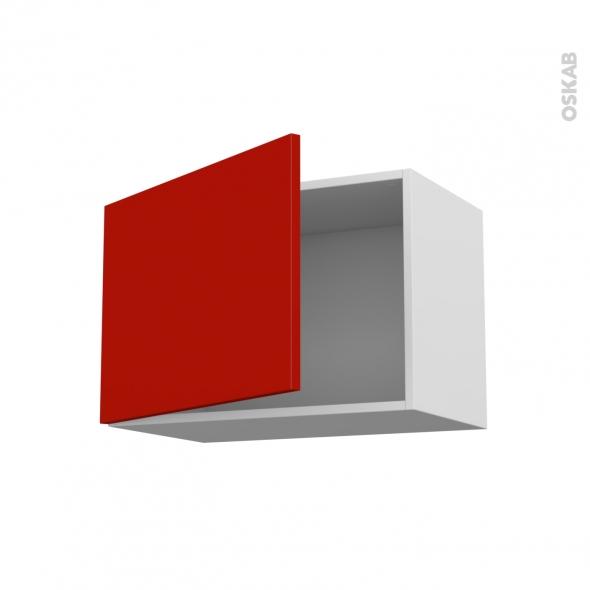 GINKO Rouge - Meuble haut ouvrant H41  - 1 porte - L60xH41xP37