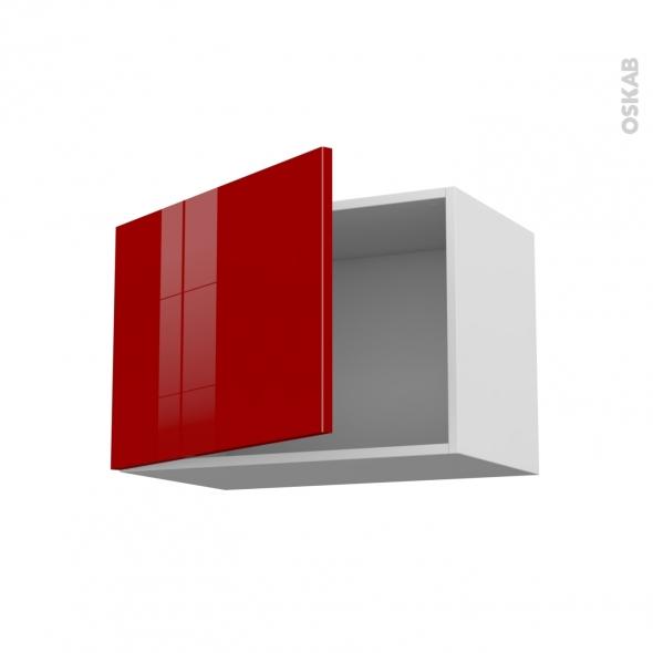 STECIA Rouge - Meuble haut ouvrant H41  - 1 porte - L60xH41xP37