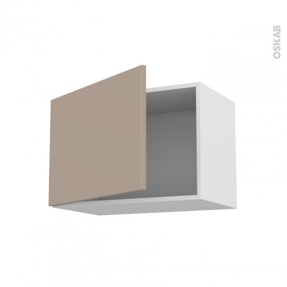 Meuble de cuisine - Haut ouvrant - GINKO Taupe - 1 porte - L60 x H41 x P37 cm