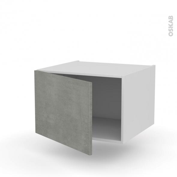 Meuble de cuisine - Haut ouvrant - FAKTO Béton - 1 porte - L60 x H41 x P58 cm